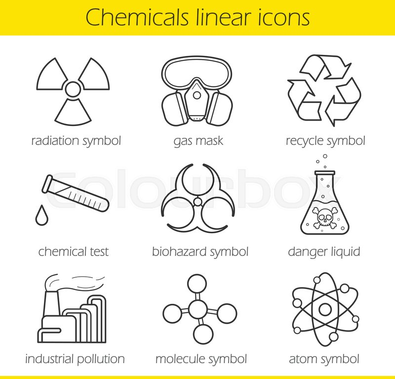 Laboratory Equipment Chemical Industy Gas Mask Recycle Symbol