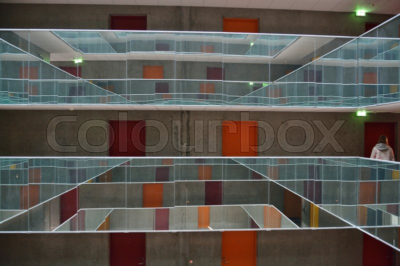 Nyopført Kollegium Ved Havnen I århus Stock Foto Colourbox