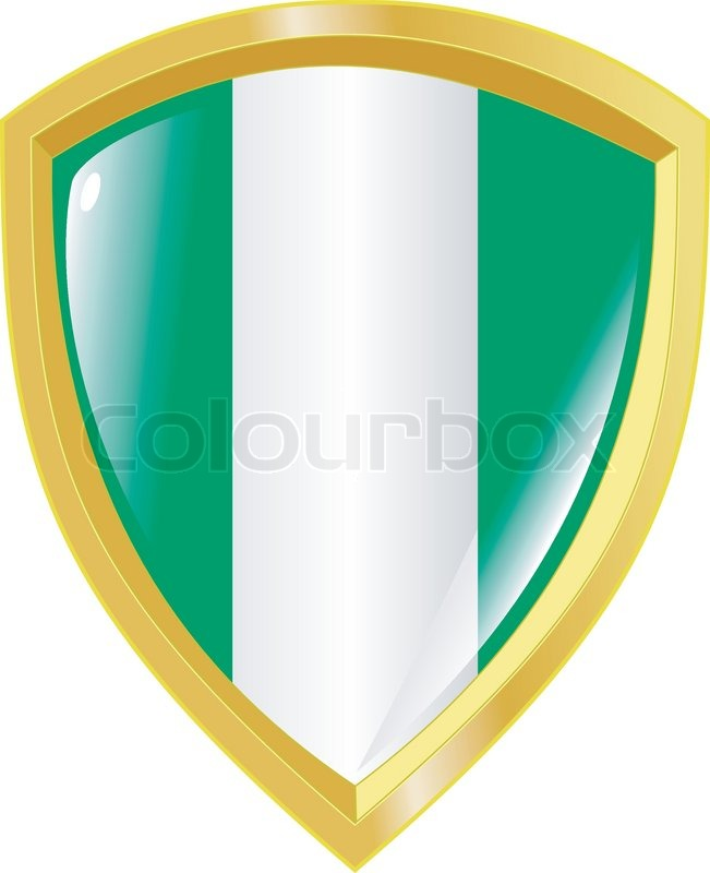 golden coat of arms of nigeria stock vector colourbox rh colourbox com