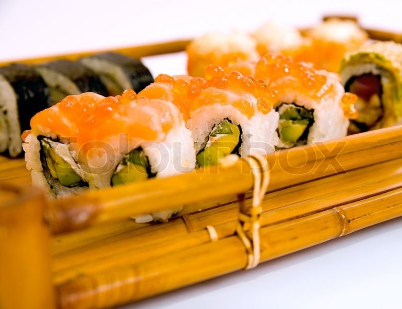 Traditional Japanese Foods Japanese Sushi Traditional Japanese Food Stock Photo