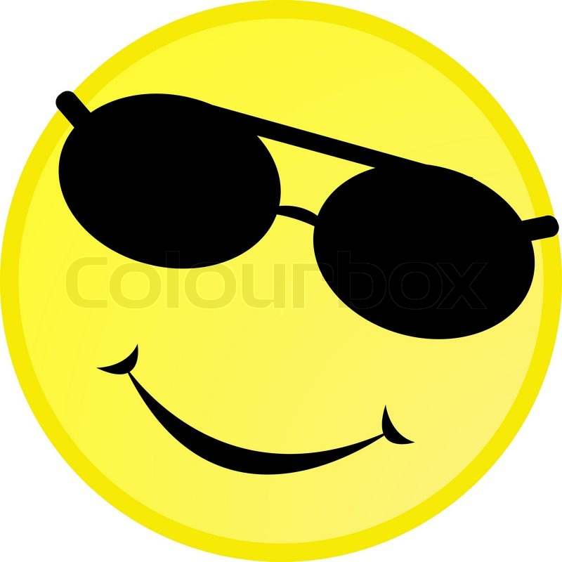 Smiley Face With Sunglasses  similiar emoticon wearing sunglasses keywords