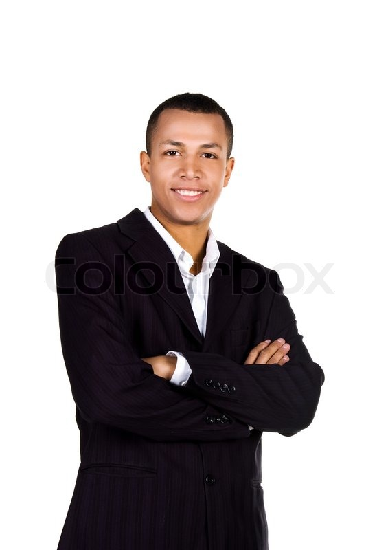 Young Successful Businessman On A White Stock Image Colourbox