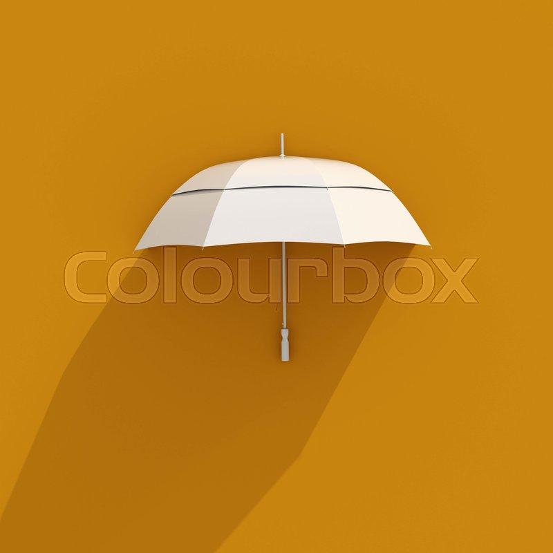 1c1cc620fc6cc 3d White Umbrella Icon, Protection ... | Stock image | Colourbox