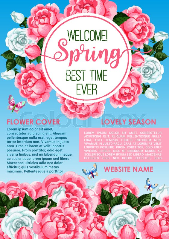 Welcome Spring Greeting Banner Stock Vector Colourbox