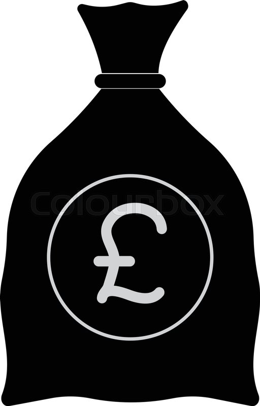 English Pound Money Bag Icon Pound Currency Sign Stock Vector