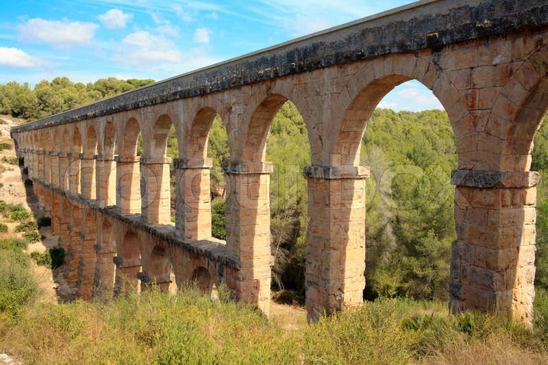 Roman aqueduct in tarragona spain stock photo colourbox - Tolder tarragona ...