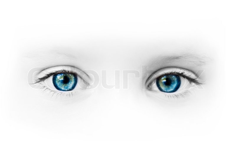 Beautiful Blue Eyes Of The Little Girl Stock Image Colourbox