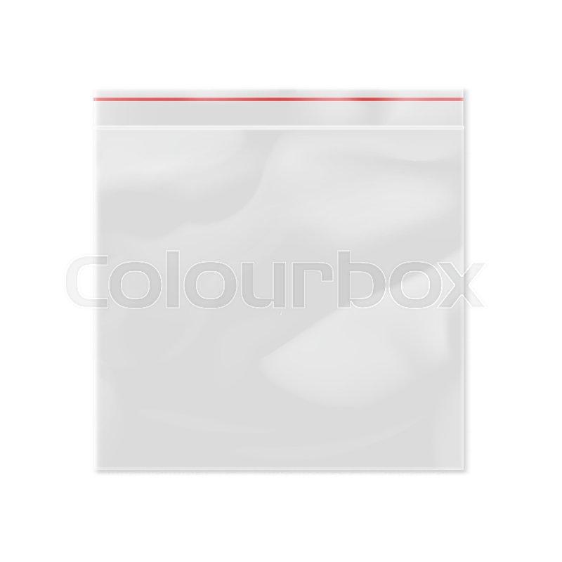 Blank 3d model plastic zipper bag     | Stock vector | Colourbox