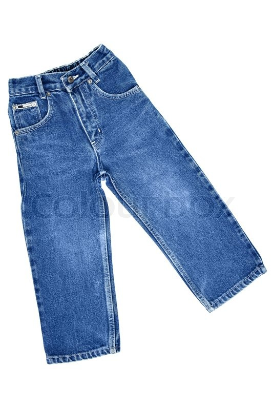 Children S Wear Jeans Isolated Over Stock Photo