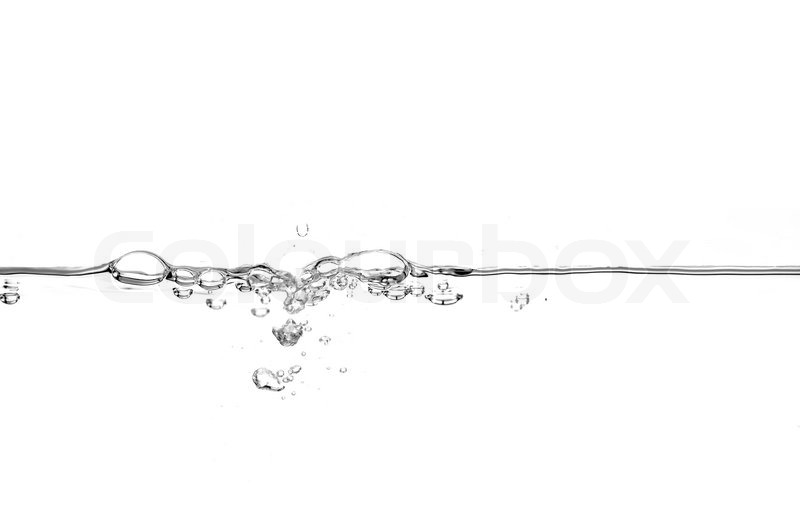 Water Line With Air Bubbles Stock Photo Colourbox