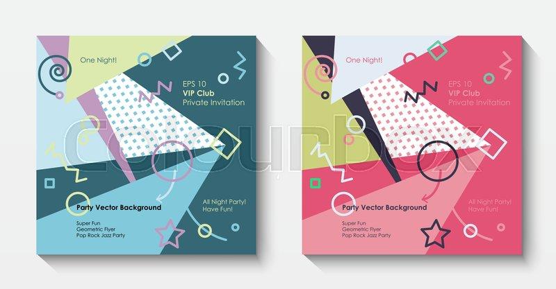 Vector Modern Postcard Template