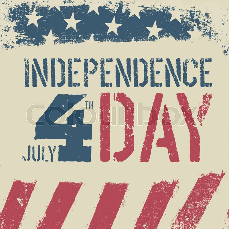 e98a074ac76cf7 4th July Independence day. Grunge ...