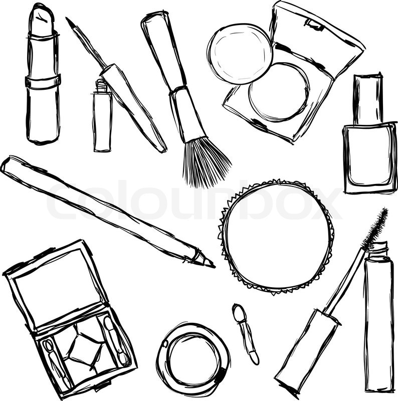 Cosmetics collection Stock Vector