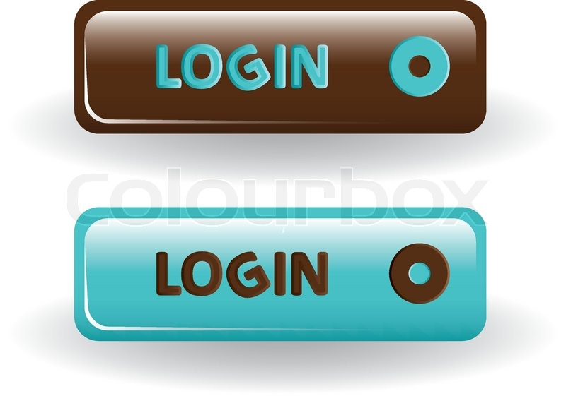 Login Buttons Images Login Buttons Brown And Blue