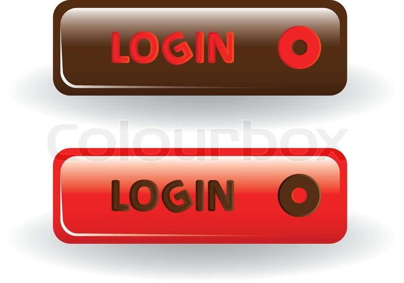 login buttons brown and red stock vector colourbox rh colourbox com red vector sign in red vector login