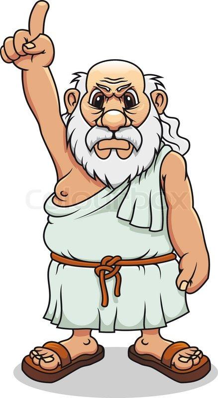 Antike griechische Mann in ... | Stock-Vektor | Colourbox