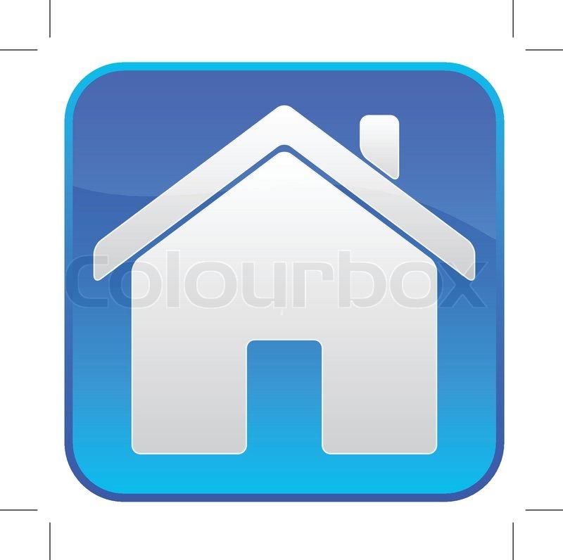 blaues symbol mit einem haus logo stock vektor colourbox. Black Bedroom Furniture Sets. Home Design Ideas