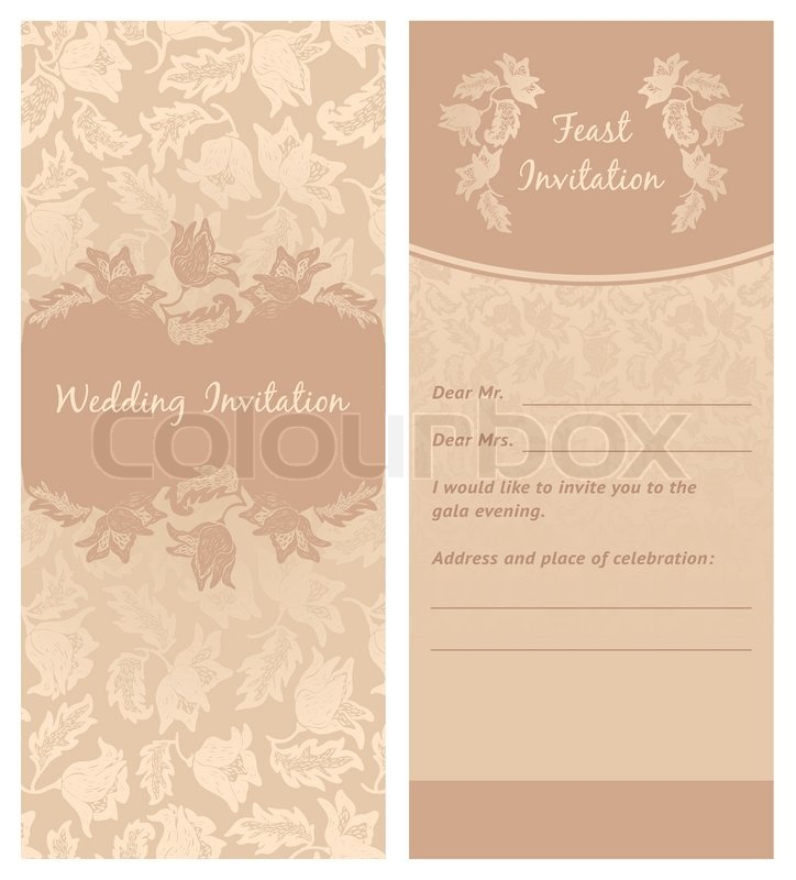 Wedding invitation flowers ornament leaf background stock vector wedding invitation flowers ornament leaf background stock vector colourbox stopboris Gallery