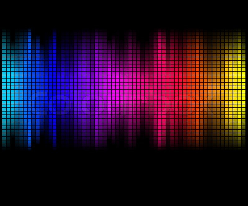 Quot Multicolor Abstract Lights Disco Background Square Pixel