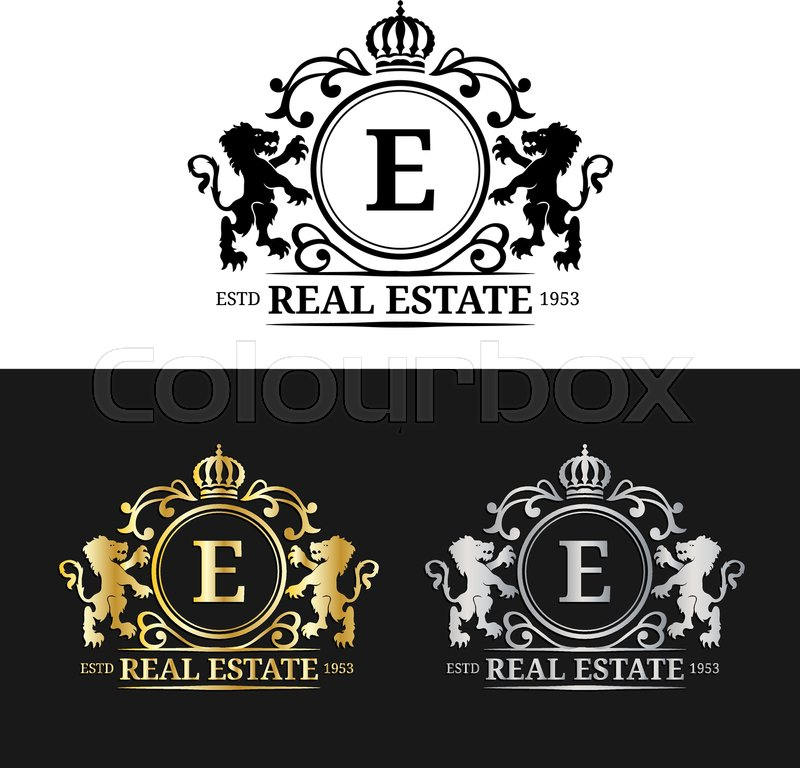 Vector real estate monogram logo templates. Luxury letters design ...