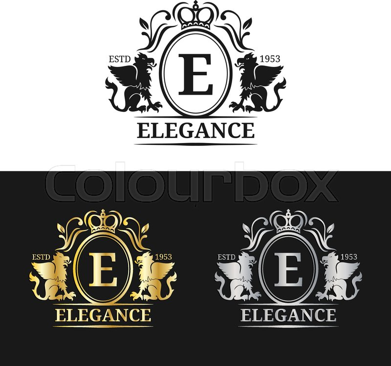 Vector monogram logo template. Luxury letter design. Graceful ...