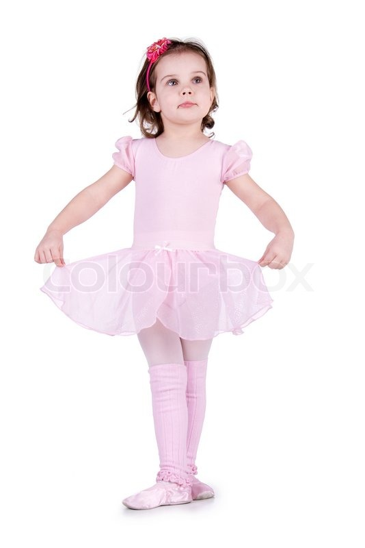 89d4876e61f Little ballet dancer isolated on a ...