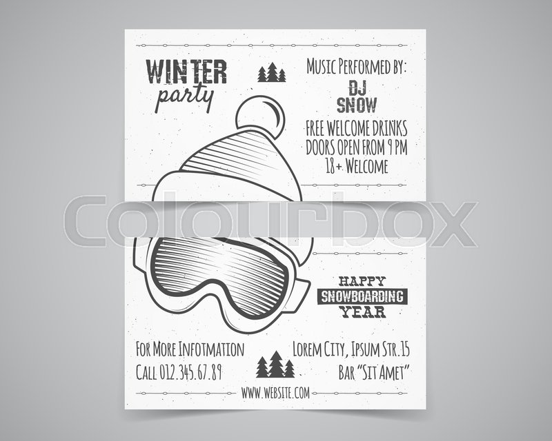Holiday Identity templates. Christmas business card, flyer design ...