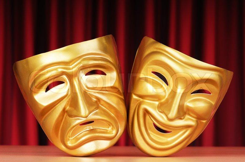 lage teater med masker