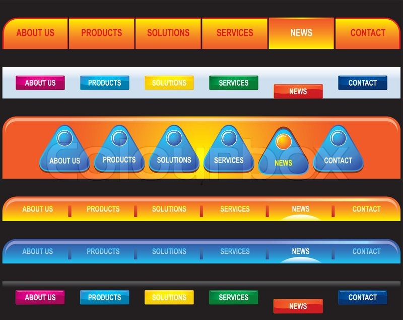 vector template navigation bar vector colourbox