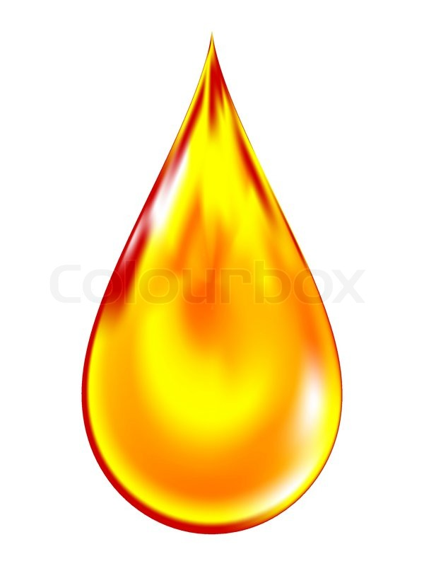 Vector Illustration Of A Golden Drop Of Oil Stock Vector