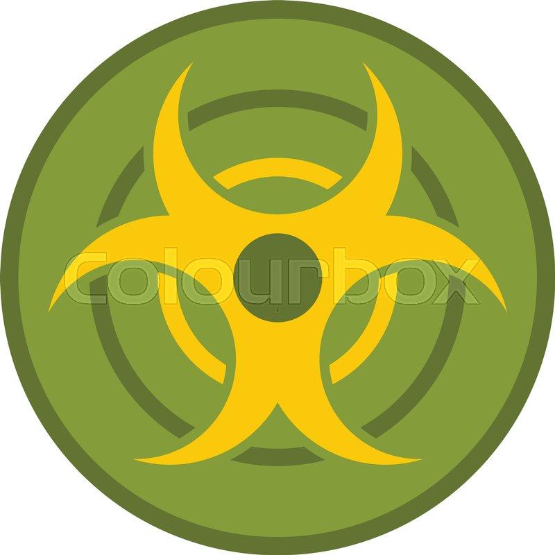 Biohazard Symbol Icon Flat Isolated On White Background Vector