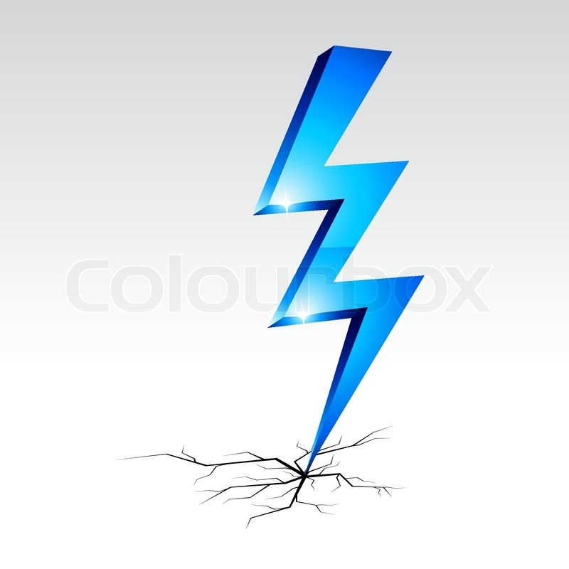 Electricity warning symbol Vector illustration | Stock Vector ...