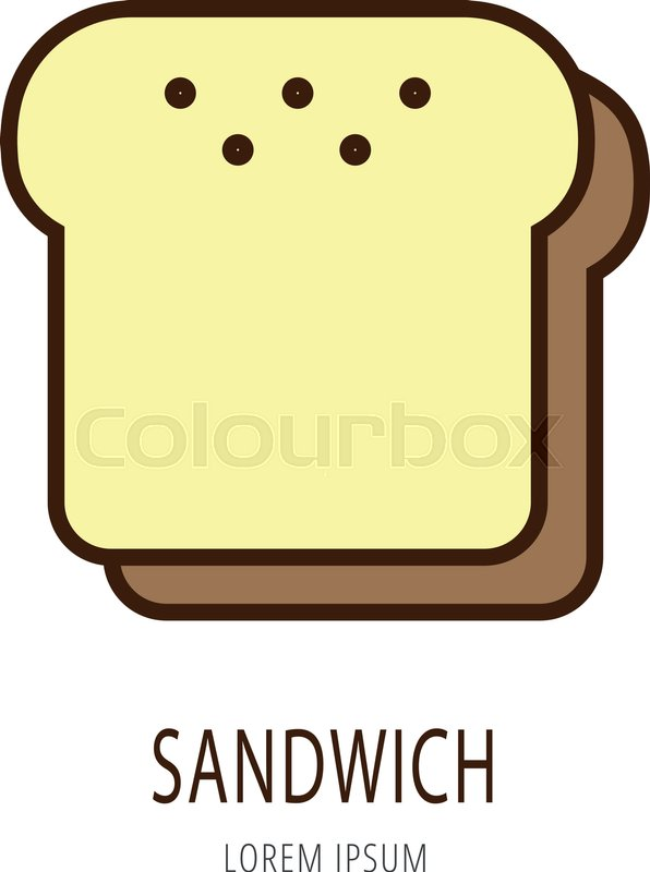 logo or label sandwich line style logotype easy to use sandwich