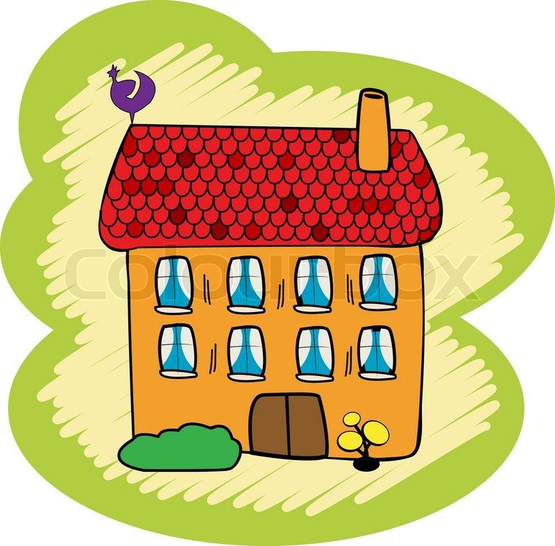 Cartoon doodle haus auf wei em hintergrund for Meine wohnung click design download