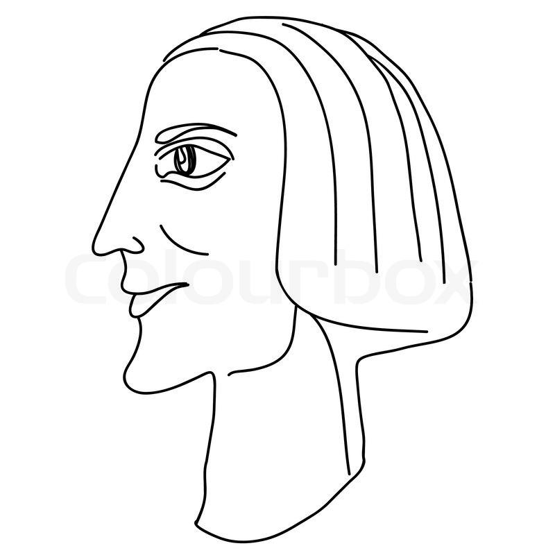 Stilisierte hand zeichnen portr t karikatur stock vektor for Koch zeichnen