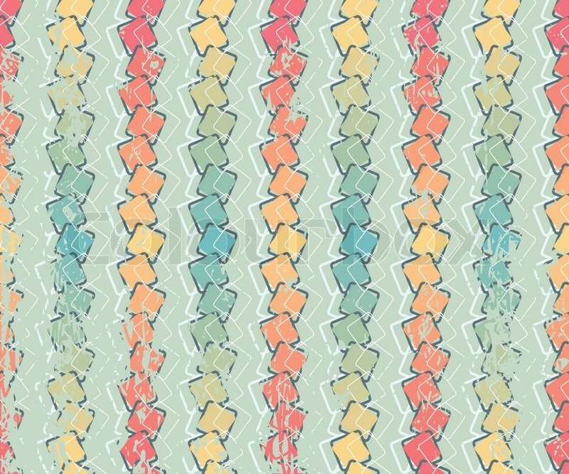 Retro Color Vector Grange Seamless Pattern Vintage