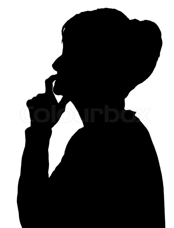 thinking person silhouette