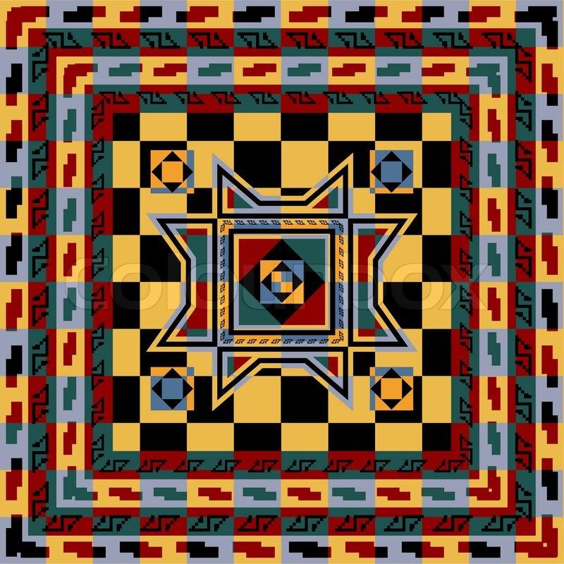 Afrikanisch, farbig, bunt  Vektorgrafik  Colourbox