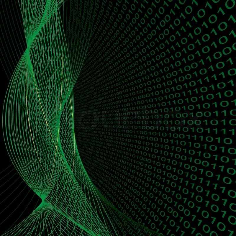 vector abstract background with binary digital code