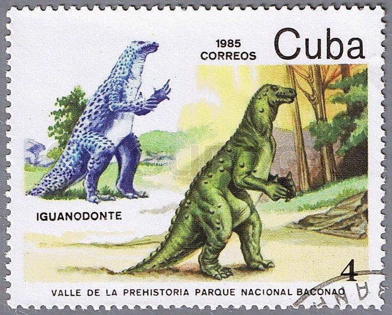 Образ stamp: cuba: 1987: dinosaur series #5 от istockphoto
