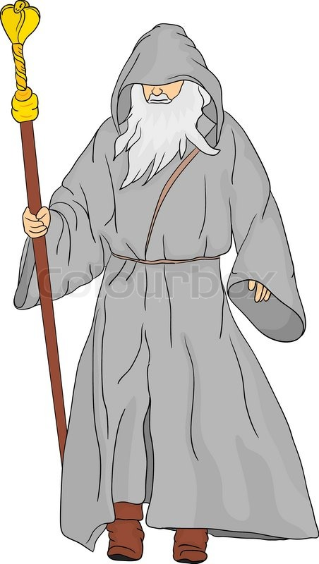 Vector - druid isolated on background | Stock Vector ...