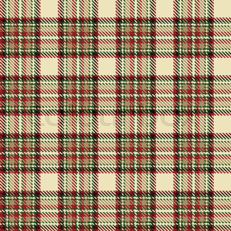 Tartan Check Plaid Texture Seamless Stock Vector