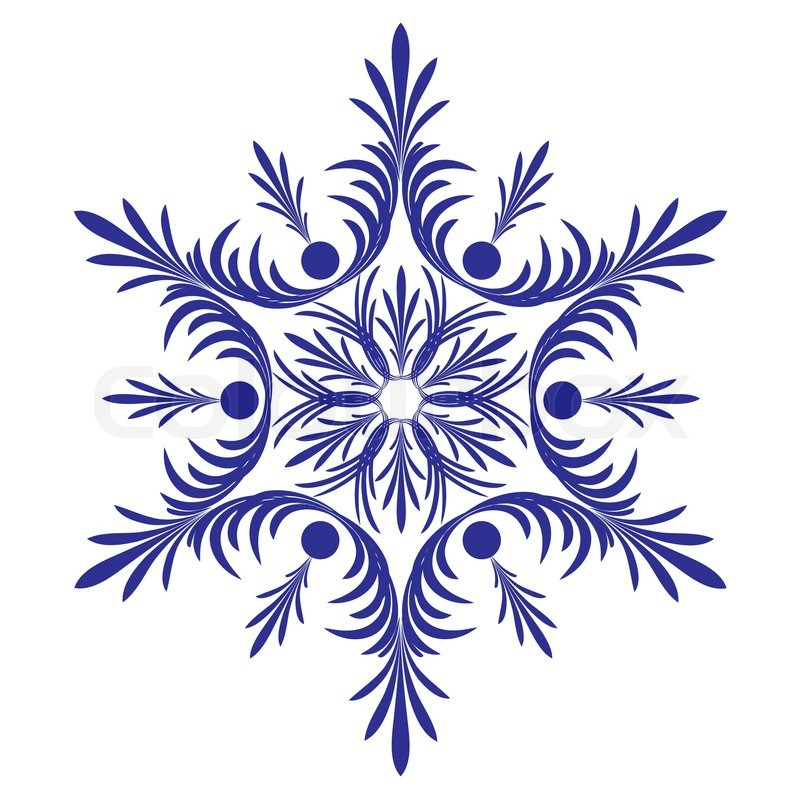 decorative snowflake vector stock vector colourbox rh colourbox com vector snowflake transparent background vector snowflake pattern
