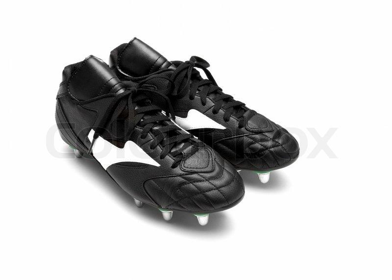b56b0fcaec70 Fodbold støvler isoleret på en hvid baggrund