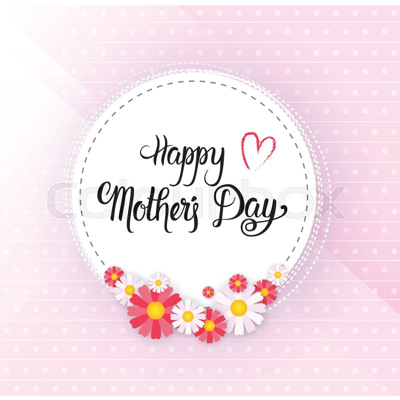 Happy mother day spring holiday greeting card banner flat vector happy mother day spring holiday greeting card banner flat vector illustration stock vector colourbox m4hsunfo
