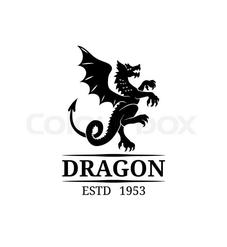 vector dragon logo template luxury monogram graceful vintage