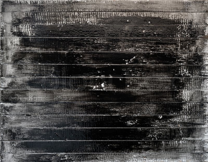 Handmade Texture Of Black Paint Grunge Wooden Plank