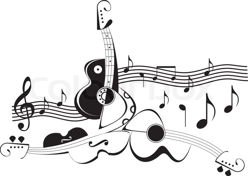 901 Free Clipart Of A Pair Of Headphones Made Of Black And White Musical Notes besides 1066148 Royalty Free Music Clipart Illustration additionally Royalty Free Stock Images Miscellaneous Icon Set Image9650239 in addition 75073 further Vad Ar Musik. on guitar notes clip art