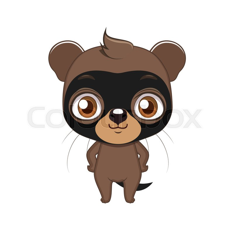 Cute Stylized Cartoon Bush Dog Illustration For Fun Educational