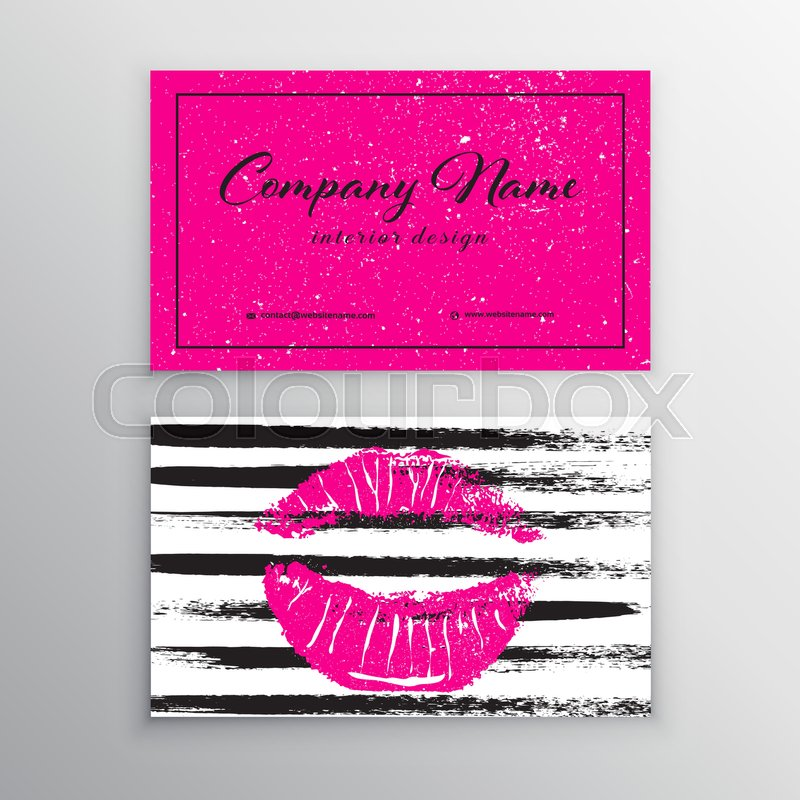 Makeup artist business card business cards template with pink lips makeup artist business card business cards template with pink lips print design templates for brochures flyers mobile technologies and online services cheaphphosting Images